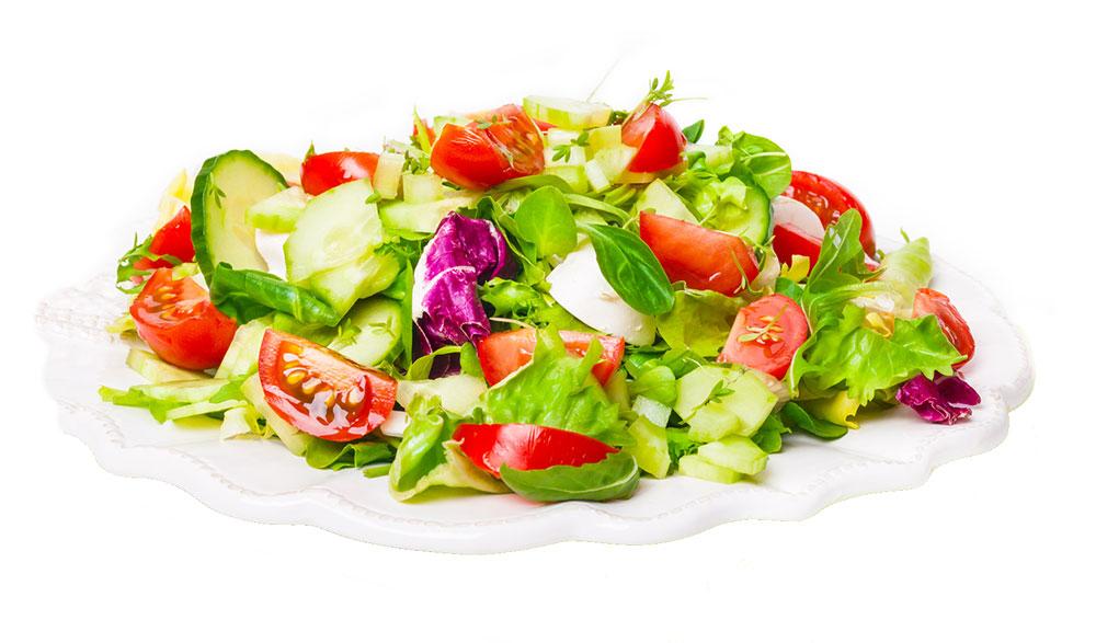 Frischer Salat der Saison